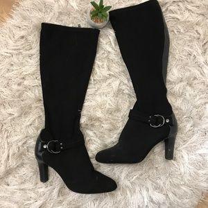 Alex Marie Black Knee High Boots 6.5M